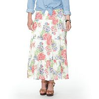 Plus Size Chaps Tiered Maxi Skirt