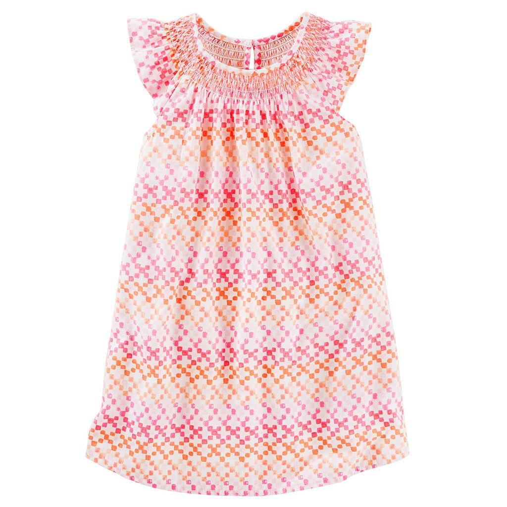 Toddler Girl OshKosh B'gosh® Geometric Smocked Dress