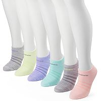 Women's adidas 6 pkSuperlite Striped Compression No-Show Socks