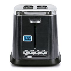 Bella Ultimate Elite Collection 2-Slice Black Stainless Steel Finish Digital Toaster