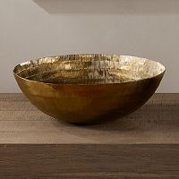 INK+IVY Orly Small Decorative Brass Bowl Table Decor