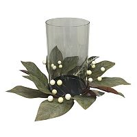 SONOMA Goods for Life™ Artificial Magnolia Leaf Hurricane Candle Holder