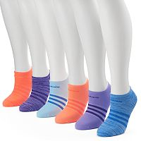 Women's adidas 6-pk. Superlite Striped Compression No-Show Socks