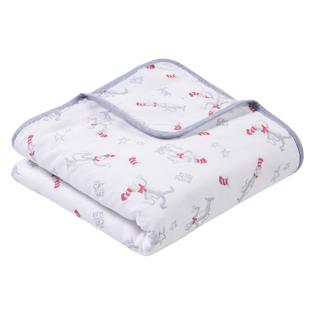 Dr. Seuss The Cat in the Hat Luxe Muslin Blanket by Trend Lab