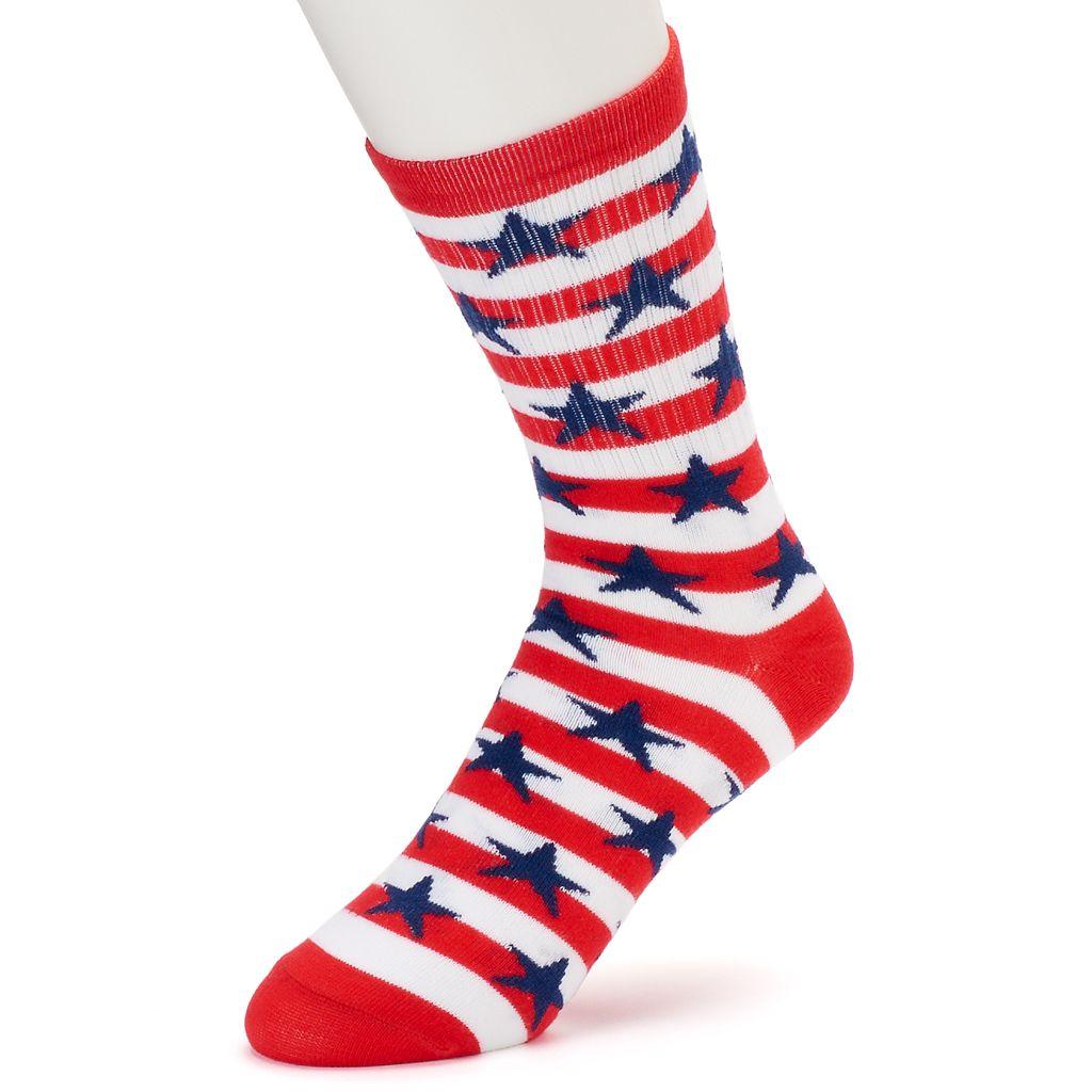 Men's Patriotic Crew Socks