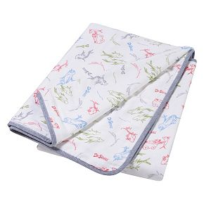 Dr. Seuss New Fish Luxe Muslin Blanket by Trend Lab