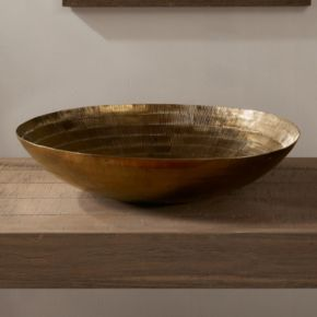 INK+IVY Orly Medium Decorative Brass Bowl Table Decor