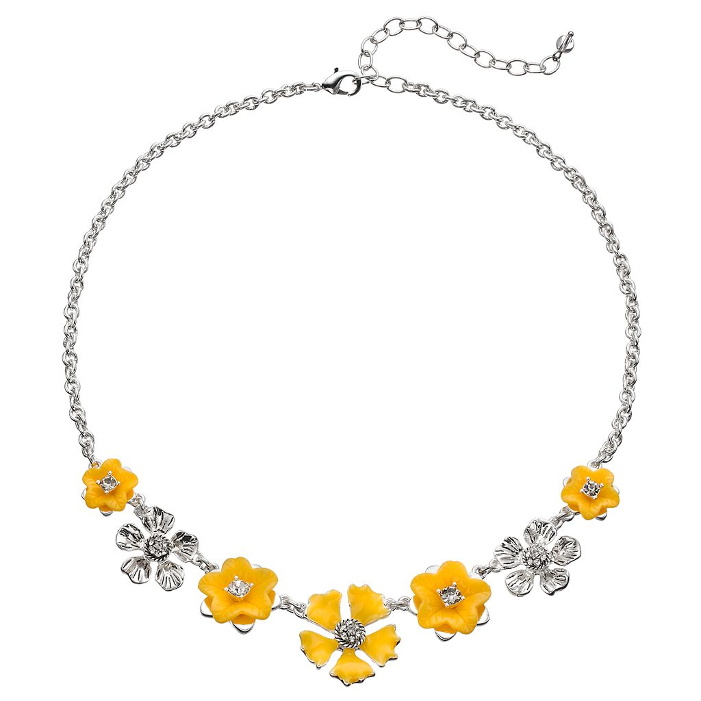 Napier Graduated Flower Necklace