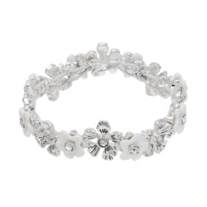 Napier Flower Link Stretch Bracelet
