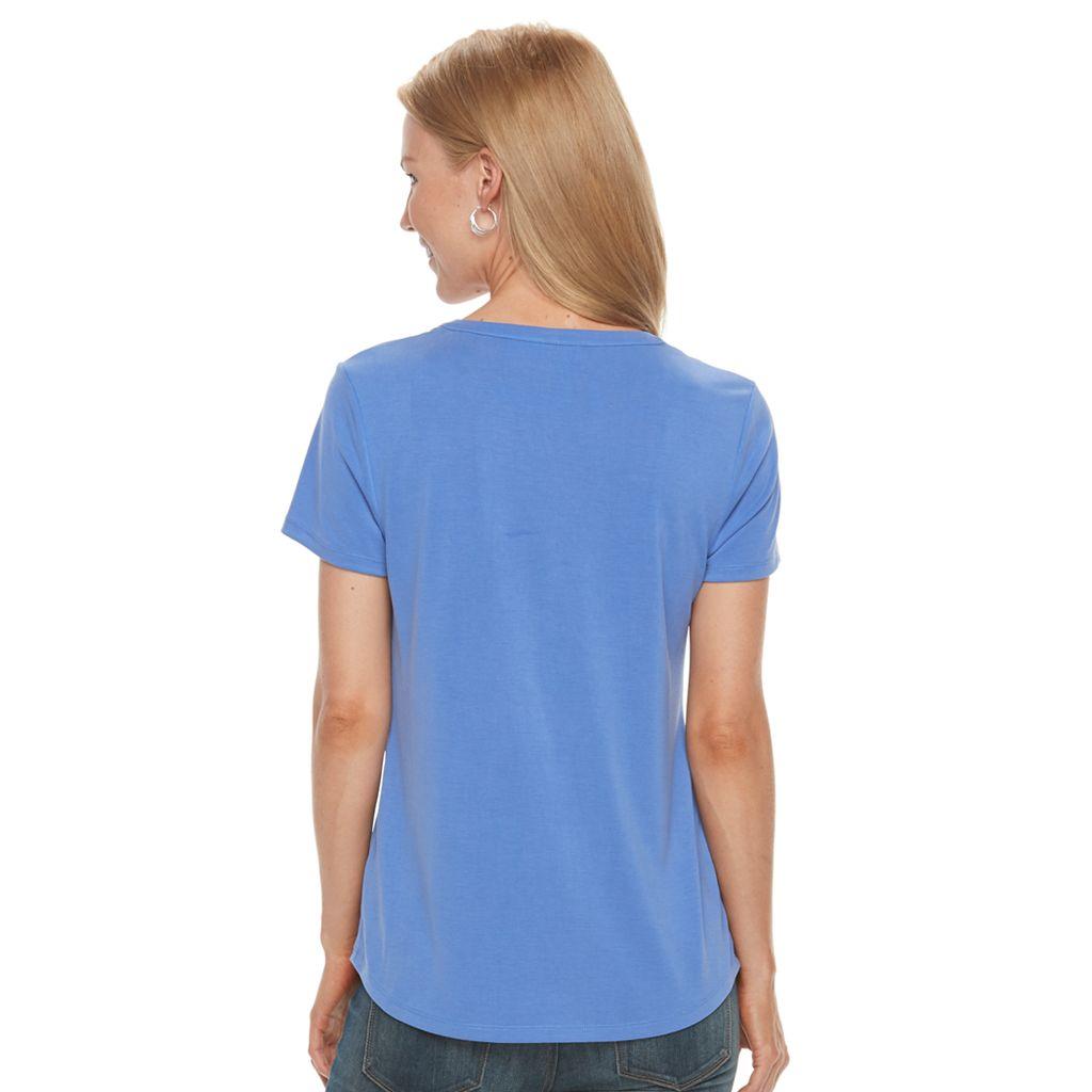 Petite Croft & Barrow® Button-Down Pocket Shirt