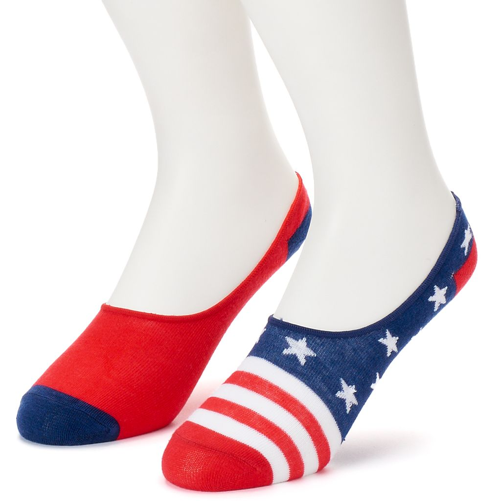 Men's Patriotic No-Show Liners