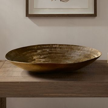 INK+IVY Orly Large Decorative Brass Bowl Table Decor