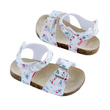 Baby Girl Carter's Double Strap Floral Sandal Crib Shoes