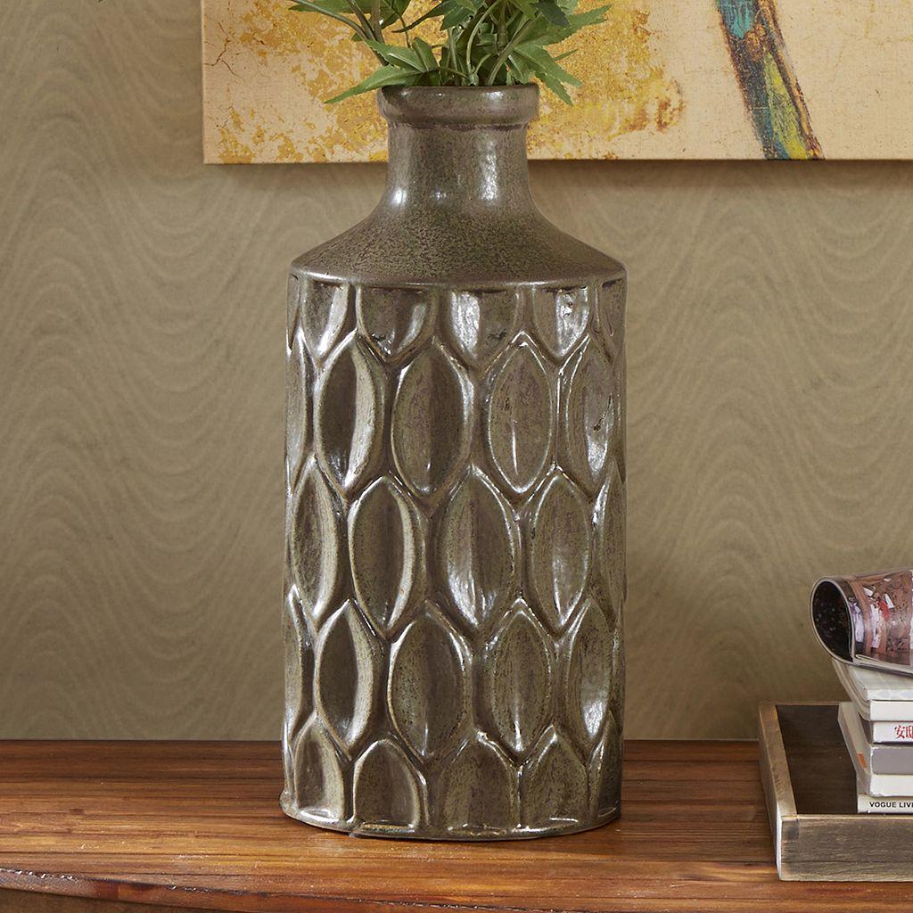INK+IVY Teigan Tall Textured Vase