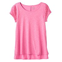 Girls 7-16 & Plus Size SO® Floral Lace Sleeve Tee