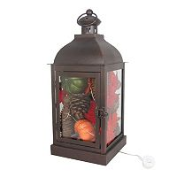 Celebrate Fall Together Light-Up Lantern Table Decor