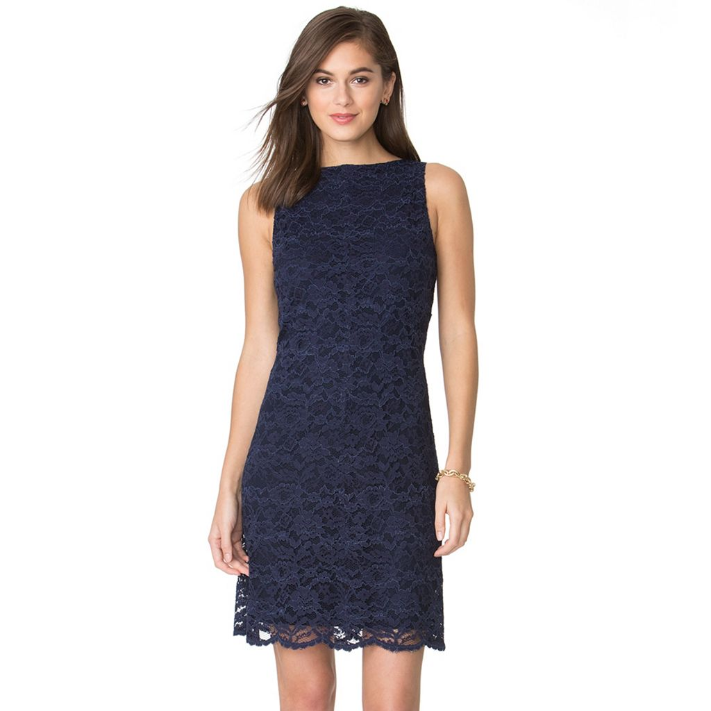 Women's Chaps Lace Shift Dress