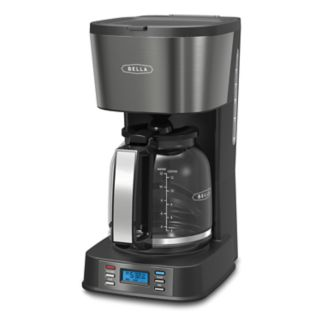 Bella Ultimate Elite Collection 12-Cup Black Stainless Steel Coffee Maker