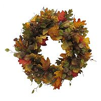 Celebrate Fall Together Artificial Leaves Wreath