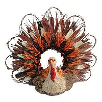 Celebrate Fall Together Artificial Turkey Wreath