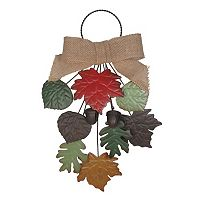 Celebrate Fall Together Metal Leaves Door Knocker