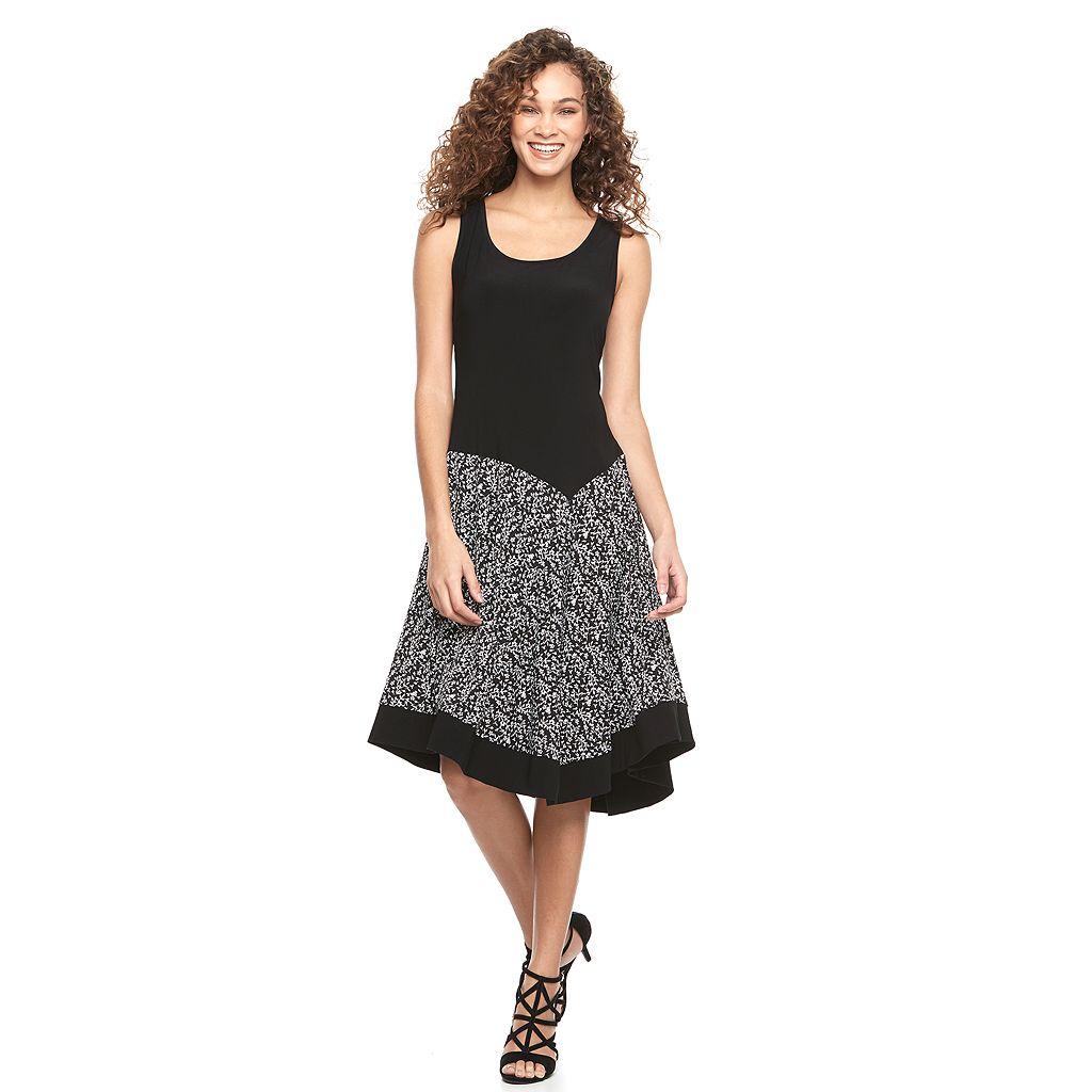 Women's MSK Asymmetrical A-Line Dress