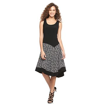 Women's MSK Asymmetrical A-Line Dress
