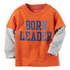 Baby Boy Carter's 'Born Leader' Mock-Layered Tee