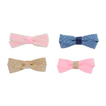Toddler Girl Carter's 4-pk. Double-Bow Hair Clip Set