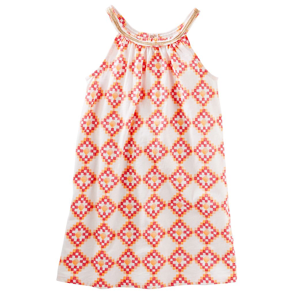 Girls 4-12 OshKosh B'gosh® Geometric Smocked Dress