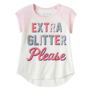 """Toddler Girl Jumping Beans® """"Extra Glitter Please"""" Graphic Tee"""