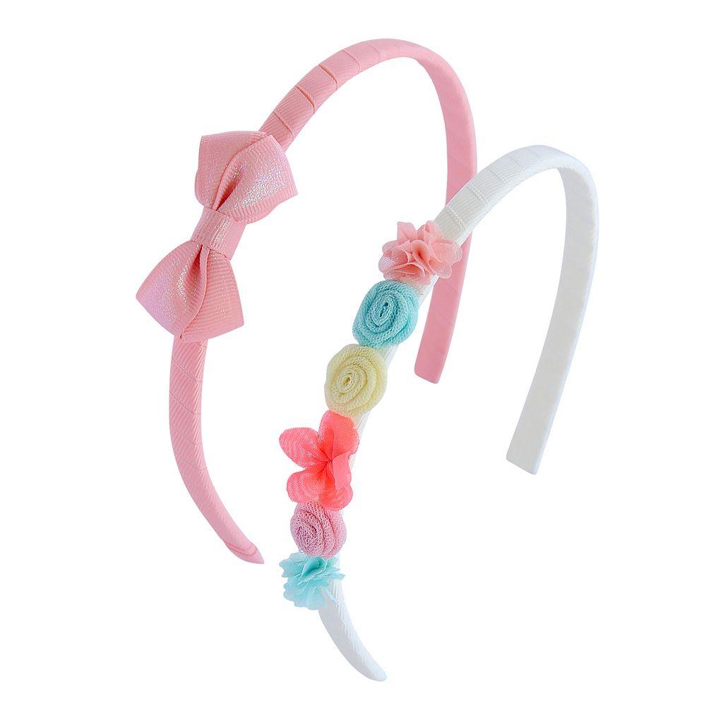 Toddler Girl Carter's 2-pk. Molded Flower & Bow Headband Set