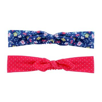 Baby Girl Carter's 2-pk. Floral & Dotted Head Wrap Set