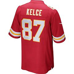 Men's Nike Kansas City Chiefs Travis Kelce Game NFL Replica Jersey