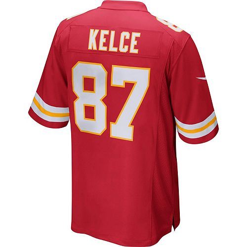 premium selection c74ed 89559 Men's Nike Kansas City Chiefs Travis Kelce Game NFL Replica Jersey