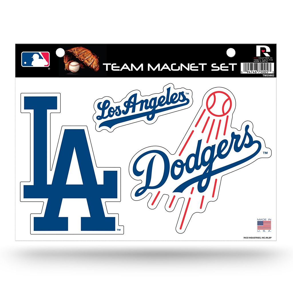 Los Angeles Dodgers Team Magnet Set