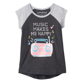 """Toddler Girl Jumping Beans® """"Music Makes Me Happy"""" Graphic Tee"""
