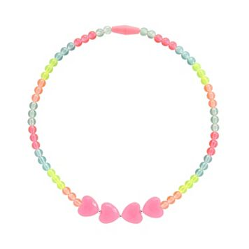 Toddler Girl Carter's Rainbow Hearts Beaded Necklace