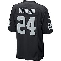 Men's Nike Oakland Raiders Charles Woodson Game NFL Replica Jersey