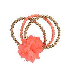 Toddler Girl Carter's 3 pkFloral Beaded Bracelet Set