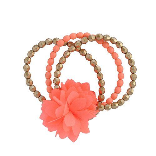 Toddler Girl Carter's 3-pk. Floral Beaded Bracelet Set