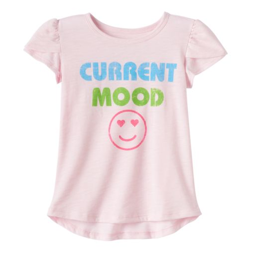 """Toddler Girl Jumping Beans® """"Current Mood"""" Emoji Graphic Tee"""