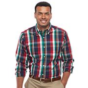 Big & Tall Chaps Regular-Fit Plaid Button-Down Shirt