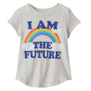 """Toddler Girl Jumping Beans® """"I Am The Future"""" Rainbow Graphic Tee"""