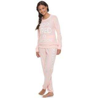 Juniors' Peace, Love & Fashion Pajamas: Long Sleeve Top & Pants PJ Set