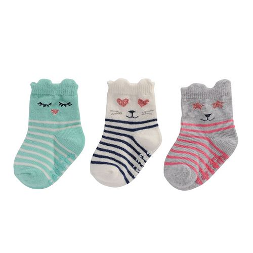 Baby Girl Carter's 3-pk. Character Crew Socks