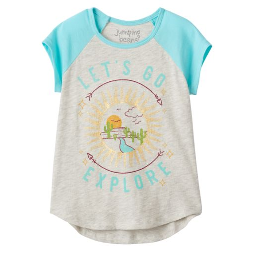 """Toddler Girl Jumping Beans® """"Let's Go Explore"""" Sun Graphic Tee"""