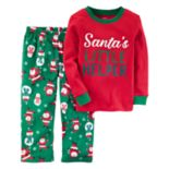 "Toddler Boy Carter's ""Santa's Little Helper"" Top & Microfleece Bottoms Pajama Set"