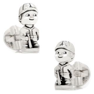 Baseball Bobble Head Cuff Links