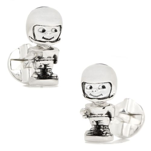 Football Bobble Head Cuff Links